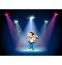A monkey standing at the stage vector