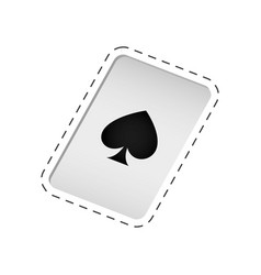 Magic card trick icon vector