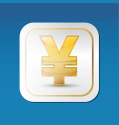 Yuan money currency vector