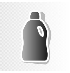 plastic bottle for cleaning  new year vector image