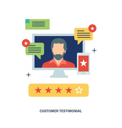 Testimonials business feedback vote and review vector