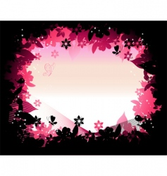 Nature frame silhouette vector