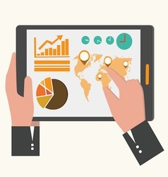 business tablet vector image