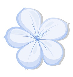 A five-petal flower vector