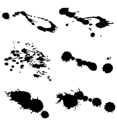 Ink blots vector