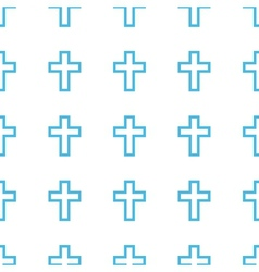 Unique protestant cross seamless pattern vector