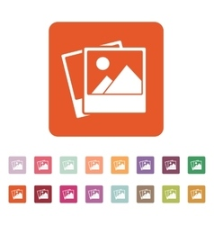 The photo icon photograph and image snapshot vector