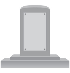 Memorial tombstone with blank plaque vector