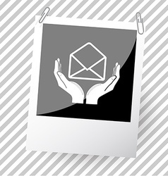 Open mail with hands vector