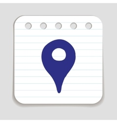 Doodle location pointer icon vector