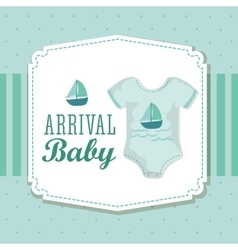 Baby shower cloth pastel design graphic vector
