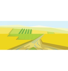 Abstract yellow landscape vector