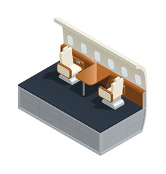 airplane interior isometric composition vector image