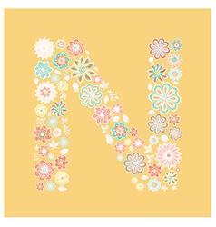 Alphabet letter vector