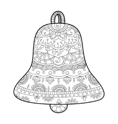 Bell coloring book for adults vector image