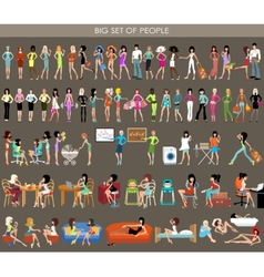 Big set of people vector image