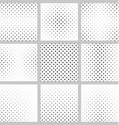 Black white curved star pattern design set vector
