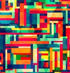 Bright color square seamless pattern vector