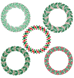 Christmas wreath frames vector