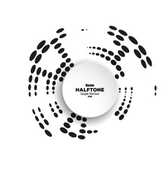Circle halftone element for your design vector image vector image