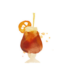 cocktail or iced tea colorful hand drawn vector image vector image