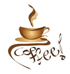 coffee sign - logo cup of coffee vector image vector image