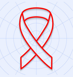 contours of a red ribbon on a light background vector image