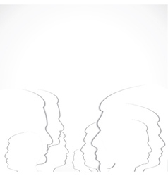 Crowd of people with paper cut style vector