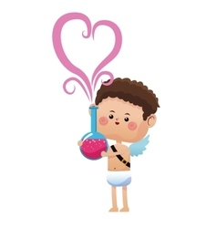 Cute cupid valentine day elixir love vector