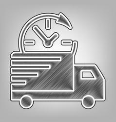 delivery sign pencil sketch vector image vector image
