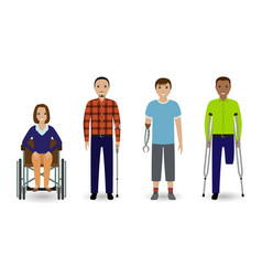 Disability people concept group of woman on a vector