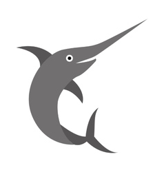 Fish animal aquatic icon vector