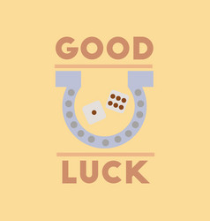 Flat icon on stylish background poker good luck vector