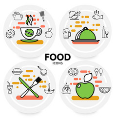 food line icons concept vector image vector image
