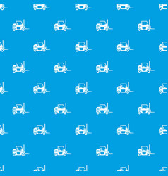 forklift pattern seamless blue vector image vector image