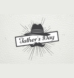 happy father s day greeting detailed elements vector image