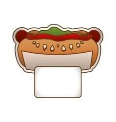 hot dog fast food icoon vector image vector image