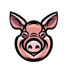 Image of swine head vector