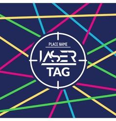 Laser tag target game poster flyer lasertag banner vector