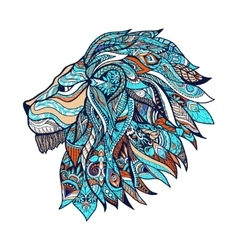 Lion colored vector