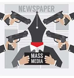 Mass media is the hostage vector