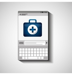 Mobile device health care kit first aid vector
