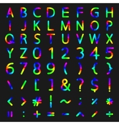 Set of rainbow elements vector