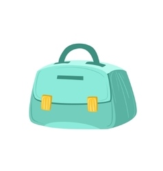 Small Blue Female Purse Item From Baggage Bag vector image vector image