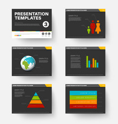 Template for presentation slides 3 vector