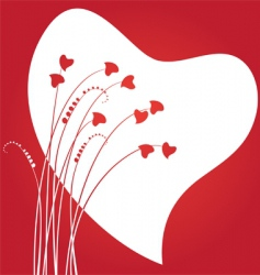 valentines day abstract with dandelion vector image vector image