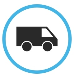 Van Flat Rounded Icon vector image