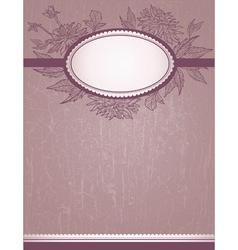 vintage romantic design vector image