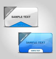 Stylish web boxes vector