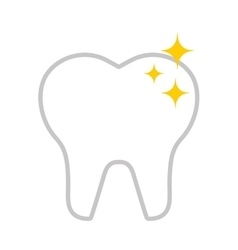 Tooth healthcare isolated icon vector